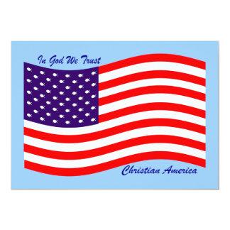 En dios confiamos en al cristiano América del ~ Invitación 12,7 X 17,8 Cm