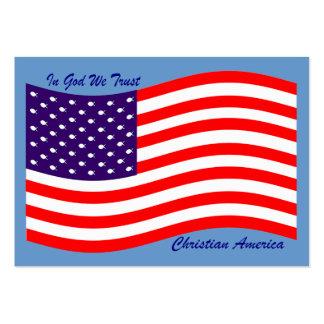 En dios confiamos en al cristiano América del ~ Tarjetas De Visita