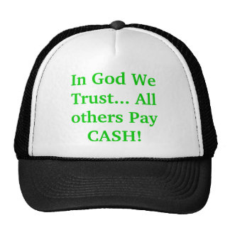 En dios confiamos en… ¡Todos los otros pagan EFECT Gorros Bordados