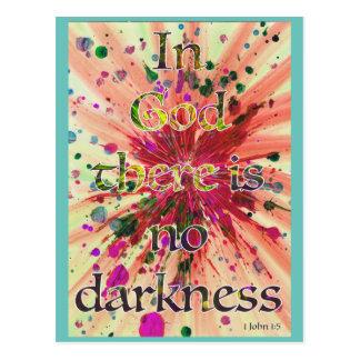 """""""En dios no hay oscuridad"""" 1 arte de la biblia del Postal"""