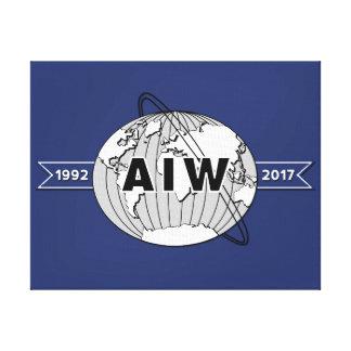 En el 25to logotipo del aniversario de la Lona-AIW Lienzo