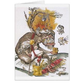 En el abismo del infierno: Matías Gerung c.1536 Tarjeta De Felicitación