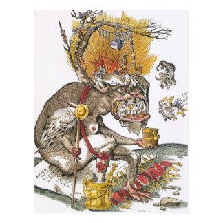 En el abismo del infierno: Matías Gerung c.1536 Postal