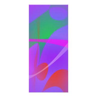En el agua púrpura tarjeta publicitaria