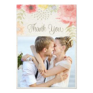 En el boda del verano del prado gracias invitación 12,7 x 17,8 cm