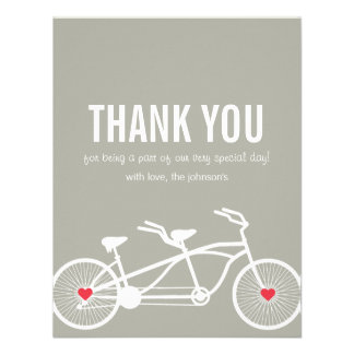 En el boda gris de la bicicleta del amor gracias l invitaciones personalizada