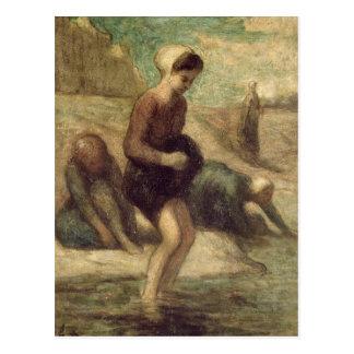 En el borde del agua, c.1849-53 postal