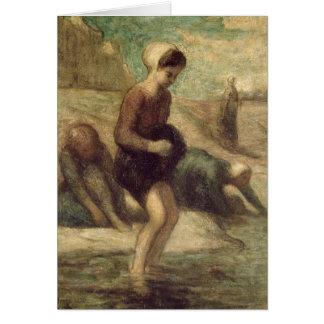 En el borde del agua c 1849-53 tarjeta