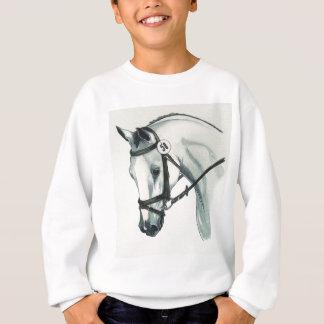 En el caballo BLANCO del Dressage del contacto Sudadera