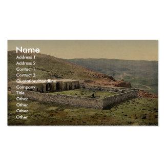 En el camino a Jericó, Khan-EL-Ahmar, Tierra Santa Tarjetas De Visita