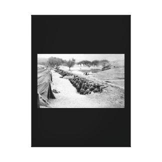 En el camino con la imagen de American_War Impresión En Lienzo