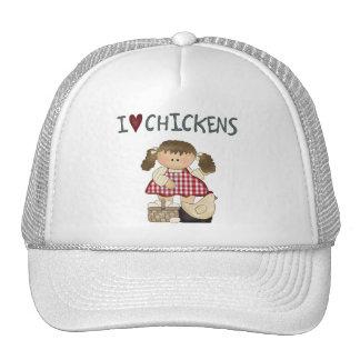 En el casquillo de los pollos del amor del chica I Gorros Bordados