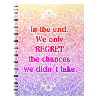 En el extremo - Quote´s positivo Cuaderno