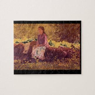 En el Fence', Winslow Homer_Art de América Puzzle