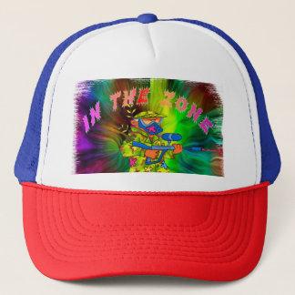 En el gorra del camionero de Paintball de la zona