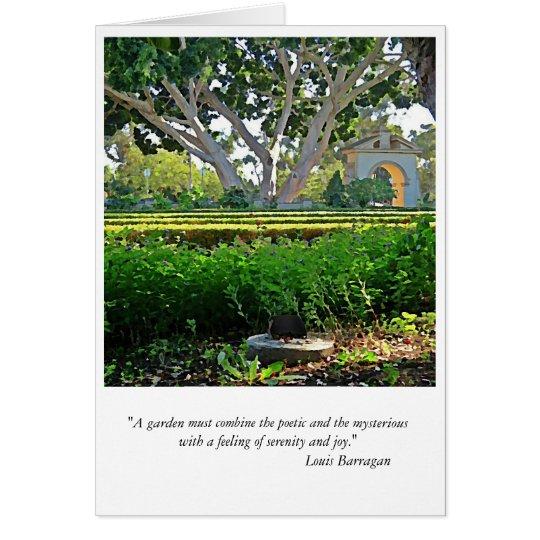 En el jardín tarjeta pequeña