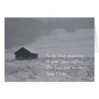 En el pleno invierno triste tarjeton