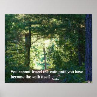 En el poster inspirado de la cita de Buda de la tr