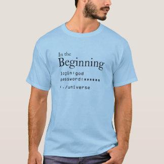 En el principio camiseta