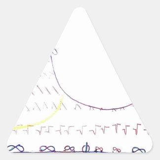 En el real de formas infinitas pegatina triangular