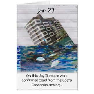 en esta día tarjeta del 23 de enero