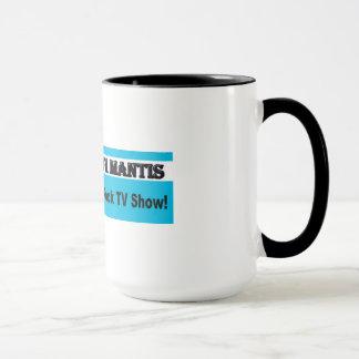En etapa con la taza de café del predicador