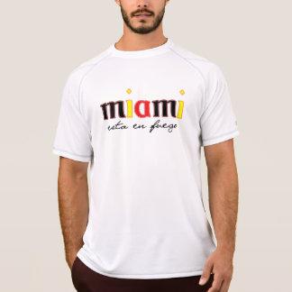 En Fuego del esta de Miami atlético Camisetas