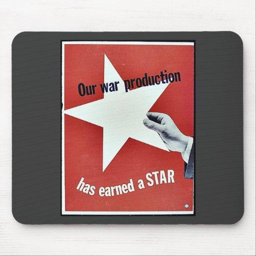En guerra la producción ha ganado una estrella tapete de raton