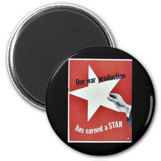 En guerra la producción ha ganado una estrella imán para frigorífico
