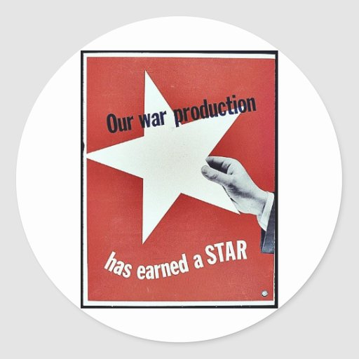 En guerra la producción ha ganado una estrella etiqueta redonda