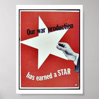 En guerra la producción ha ganado una estrella impresiones