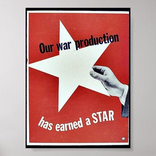 En guerra la producción ha ganado una estrella poster