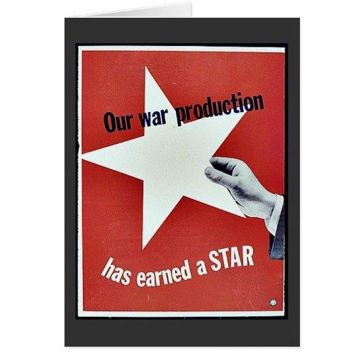 En guerra la producción ha ganado una estrella felicitación