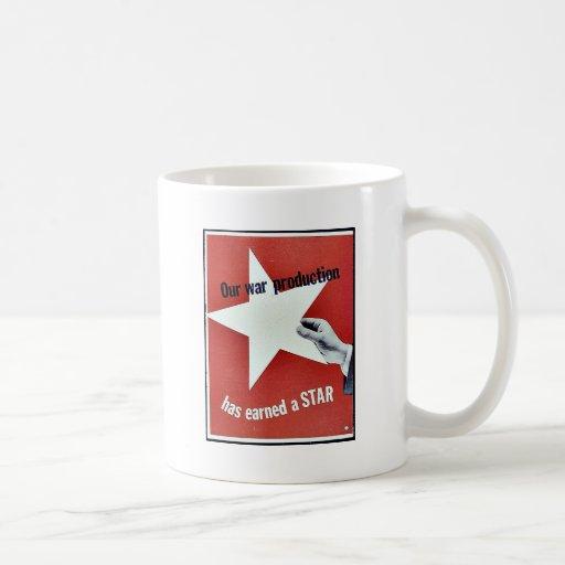 En guerra la producción ha ganado una estrella taza de café