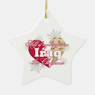 En Iraq este ornamento de la estrella del navidad Adorno Navideño De Cerámica En Forma De Estrella