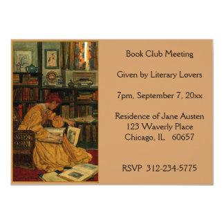 En la biblioteca, reserve invitación 11,4 x 15,8 cm