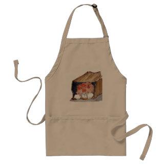 En la bolsa de papel - el gatito está ocultando… delantal