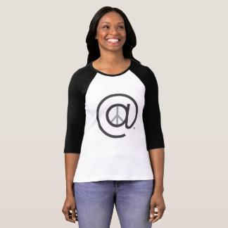 En la camiseta para mujer del béisbol de Ragline