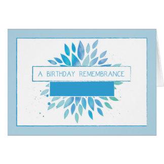 En la celebración del cumpleaños de la tarjeta de felicitación