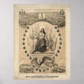 En la conmemoración del un centésimo aniversario póster