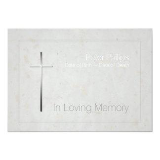 En la cruz cariñosa de la plata de la memoria - invitación 12,7 x 17,8 cm