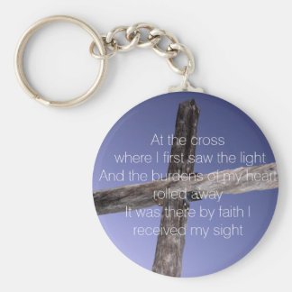 En la cruz llavero