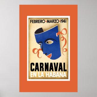 En La Habana de Carnaval Cuba del poster del viaje Póster