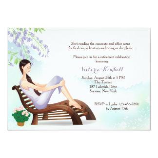 En la invitación del retiro del jardín