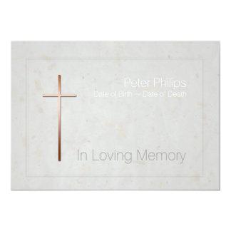 En la invitación fúnebre 2 de la memoria de la invitación 12,7 x 17,8 cm