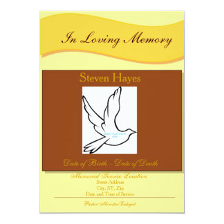 En la invitación fúnebre/el programa de la memoria