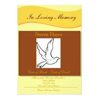 En la invitación fúnebre el programa de la memoria