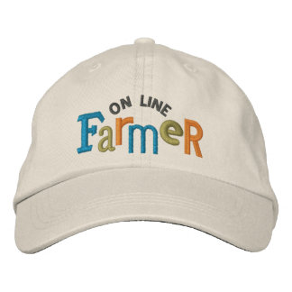 En la línea gorra del bordado del granjero gorra de beisbol bordada