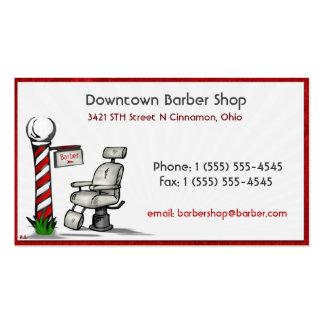 En la peluquería de caballeros tarjetas de visita