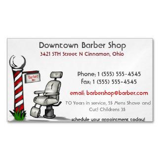 En la peluquería de caballeros tarjetas de visita magnéticas (paquete de 25)